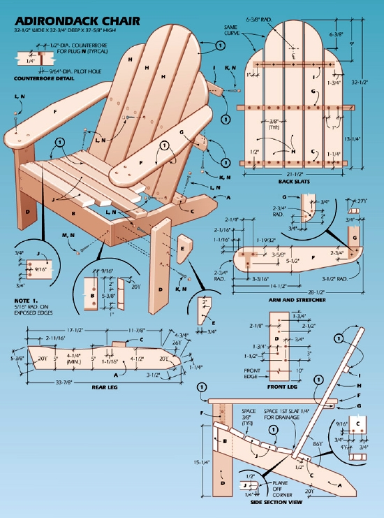 Easy Adirondack Chair Plans  Popular Mechanics
