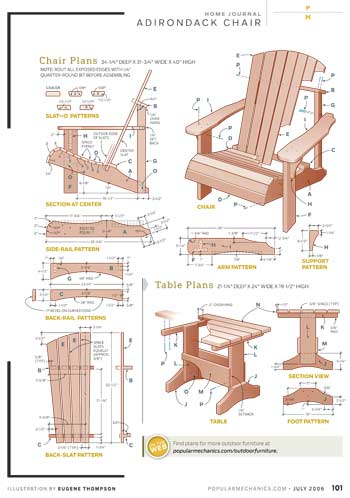 Popular Mechanics Chair & Table